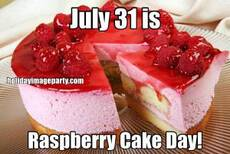 July 31 is Raspberry Cake Day!