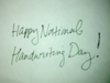 Category National Handwriting Day